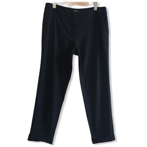 MaxMara Weekend 100% Cotton Navy Ankle Pants 10
